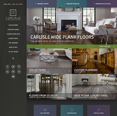 Carlisle Wide Plank Floors' home page