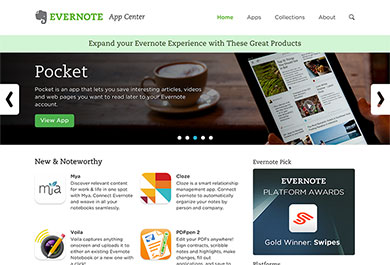 Evernote: App Center