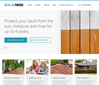 Seal-A-Deck's home page
