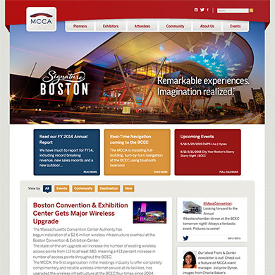 Mass Convention Center Authority's home page